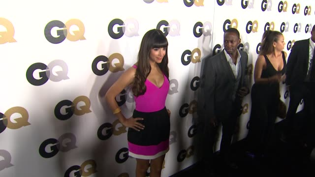 hannah simone at the gq's 2011 'men of the year' party at los angeles ca - color block stock videos and b-roll footage