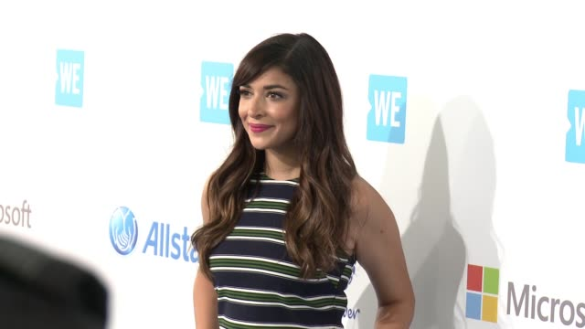 hannah simone at we day california at the forum on april 07 2016 in inglewood california - inglewood stock videos and b-roll footage