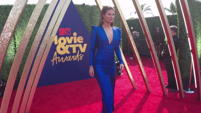 hannah stocking at the 2019 mtv movie tv awards alternative views at barkar hangar on june 15 2019 in santa monica california - mtv movie & tv awards stock videos & royalty-free footage
