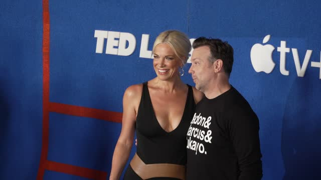 """hannah waddingham and jason sudeikis at apple's """"ted lasso"""" season 2 premiere - arrivals at pacific design center on july 15, 2021 in west hollywood,... - west hollywood stock videos & royalty-free footage"""