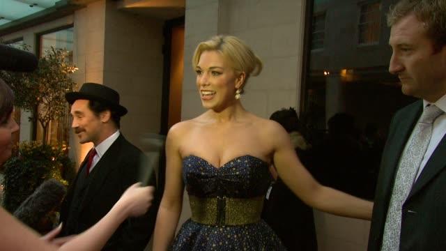 Hannah Waddingham at the 2010 Laurence Olivier Awards at London England