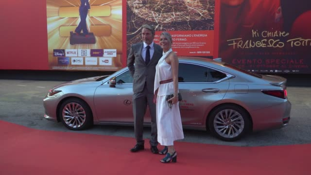 """hanne jacobsen, mads mikkelsen arrive on the red carpet ahead of the """"druk"""" screening during the 15th rome film fest on october 20, 2020 in rome,... - rome film festival stock videos & royalty-free footage"""