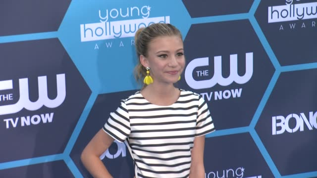 g hannelius at 16th annual young hollywood awards at the wiltern on july 27 2014 in los angeles california - wiltern theatre stock videos and b-roll footage