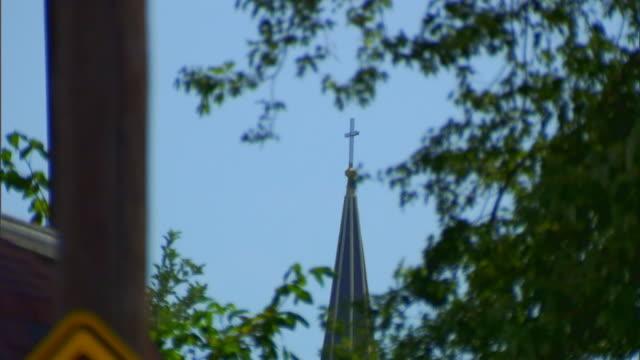 hannibal, missourichurch steeple - steeple stock videos & royalty-free footage