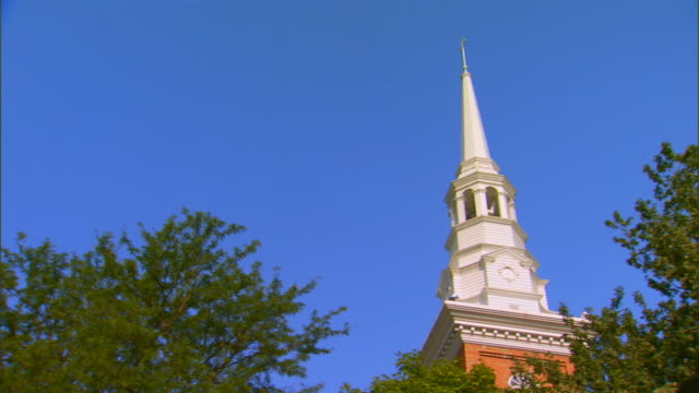 vidéos et rushes de hannibal, missourichurch steeple - flèche clocher