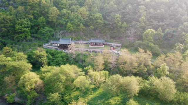 vídeos y material grabado en eventos de stock de hanok (traditional korean house) / andong-si, gyeongsangbuk-do, south korea - terrenos a construir