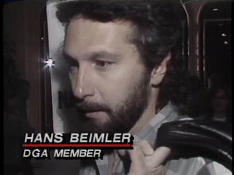 hans beimler, a member of the directors guild of america, says that the striking union has important issues that they feel strongly about. - director's guild of america stock videos & royalty-free footage