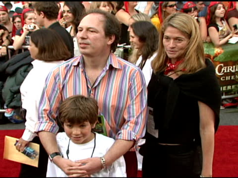 hans zimmer and family at the walt disney pictures' 'pirates of the caribbean: dead man's chest' world premiere at walt disneyland resort in anaheim,... - the family man film title stock videos & royalty-free footage