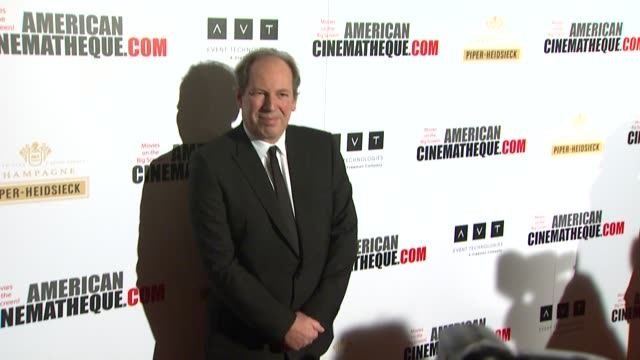 hans zimmer at american cinematheque's 27th annual award presentation honoring jerry bruckheimer in beverly hills ca on - american cinematheque stock videos & royalty-free footage