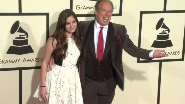 stockvideo's en b-roll-footage met hans zimmer at the 58th annual grammy awards® arrivals at staples center on february 15 2016 in los angeles california - 58e grammy awards