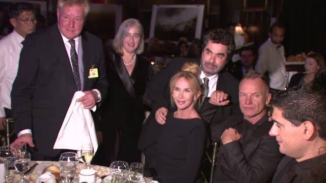 hans-jürgen beerfeltz, trudie styler, joe berlinger and sting at cinema for peace new york 2012 gala honoring sting, trudie styler & the rainforest... - trudie styler stock videos & royalty-free footage