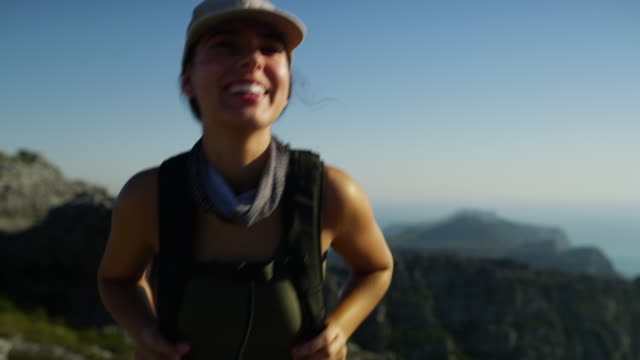 happiness is found on top of a mountain - hiking stock videos & royalty-free footage