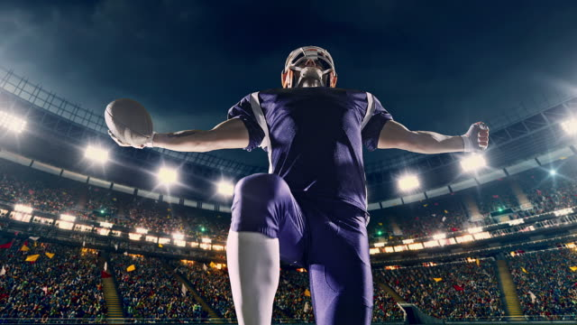happy american football player - football player stock videos & royalty-free footage