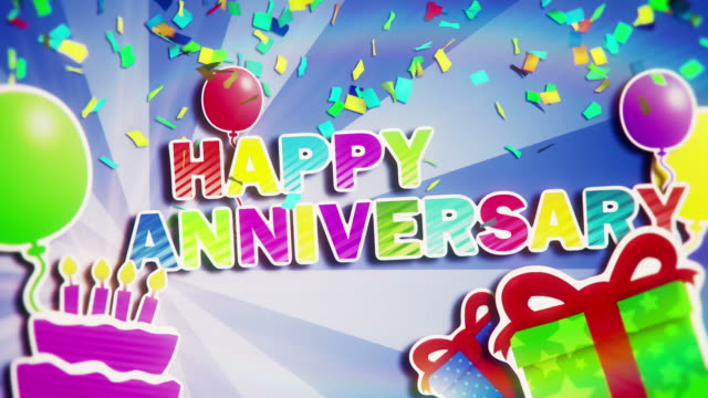 happy anniversary - message stock videos & royalty-free footage