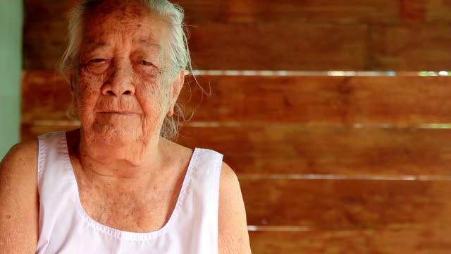 Happy asian senior lady