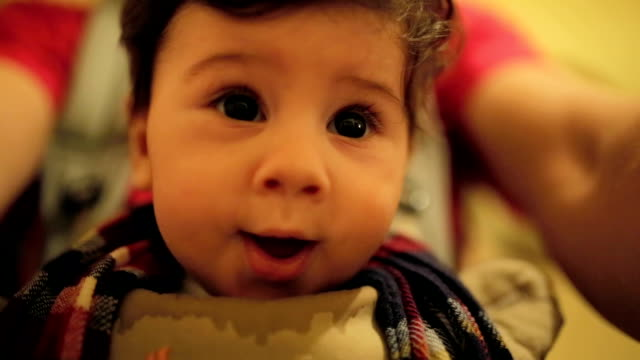 happy baby - baby carrier stock videos & royalty-free footage
