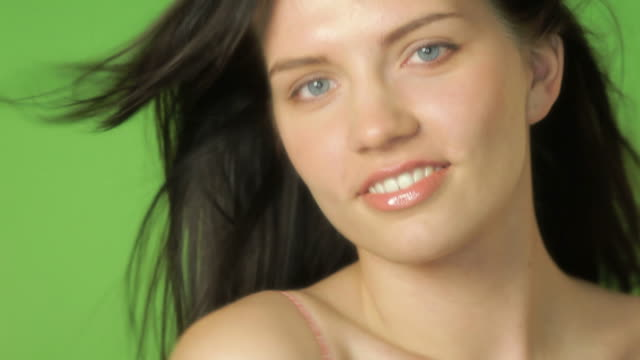 happy beauty - brown hair stock videos & royalty-free footage