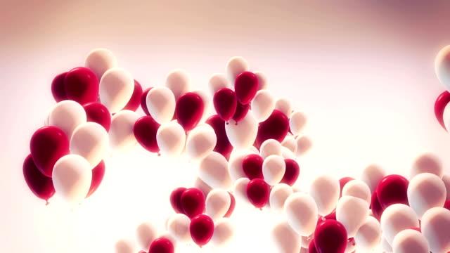 vídeos y material grabado en eventos de stock de feliz cumpleaños globos - globo de helio
