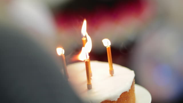 happy birthday cake - 40 44 years stock videos & royalty-free footage