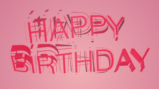 happy birthday colourful text - banner sign stock videos and b-roll footage