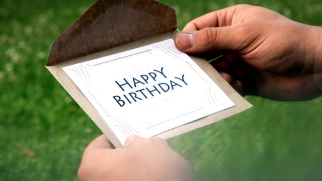 happy birthday letter - gripping stock videos & royalty-free footage