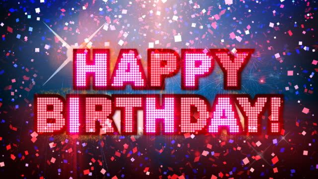 happy birthday mega party! - birthday stock videos & royalty-free footage