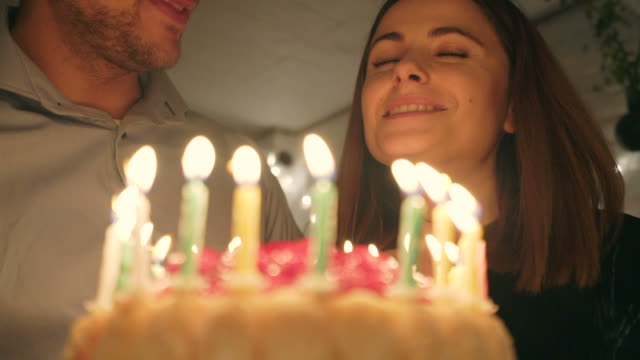 happy birthday, my love! - birthday cake stock videos & royalty-free footage