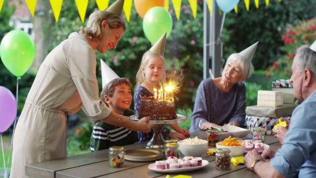 happy birthday to you! - formal garden party stock videos & royalty-free footage