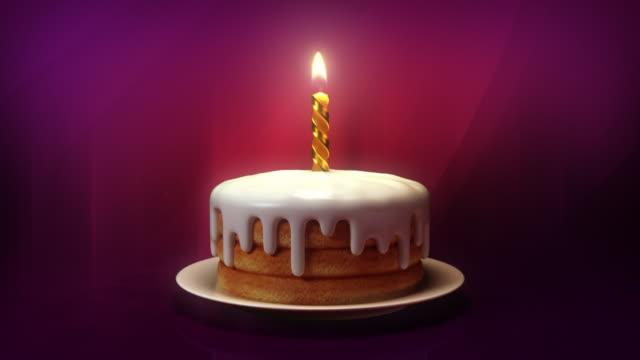 happy birthday! - kerze stock-videos und b-roll-filmmaterial