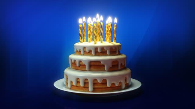 vidéos et rushes de joyeux anniversaire! - gâteau d'anniversaire