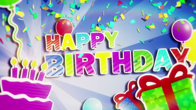 buon compleanno - compleanno video stock e b–roll