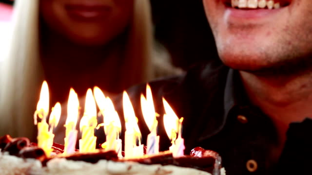 happy birthday! - birthday candle stock videos & royalty-free footage