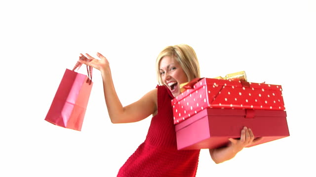 stockvideo's en b-roll-footage met happy christmas shopping - coltrui