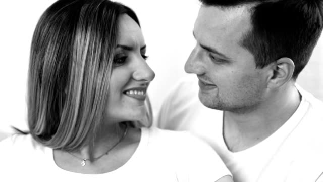 happy couple expecting baby - maternity wear stock videos & royalty-free footage