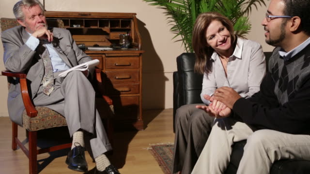 happy couple in therapy - psychiatrist's couch stock videos and b-roll footage