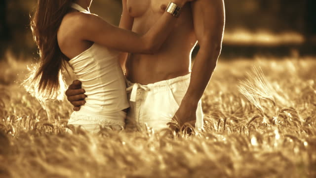 HD: Happy Couple In Wheat
