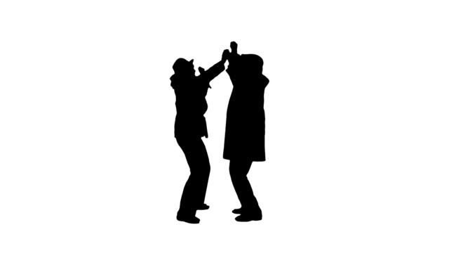 vídeos de stock e filmes b-roll de casal feliz - silhueta