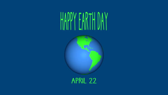 4k happy earth day animation |loopable - earth day stock videos & royalty-free footage