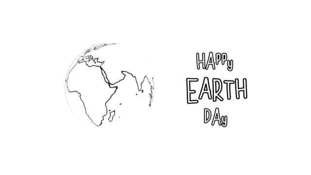 4k happy earth day animation - earth day stock videos & royalty-free footage