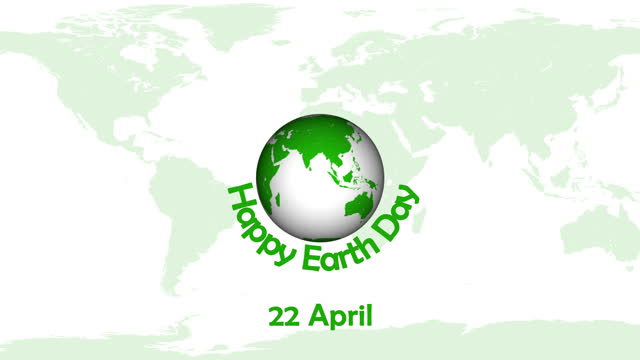 4k happy earth day animation|loopable - two dimensional shape stock videos & royalty-free footage