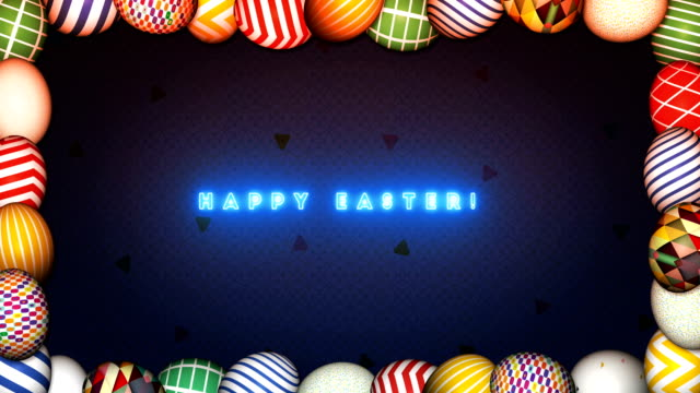 Happy Easter Eggs Celebration in a frame