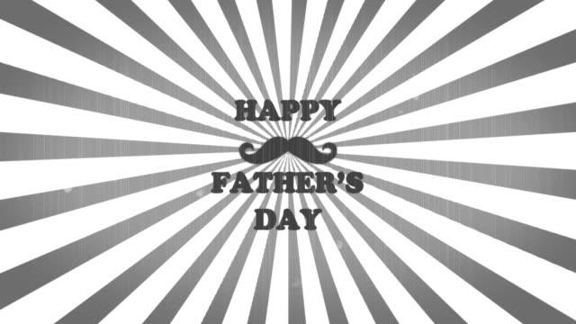 vídeos y material grabado en eventos de stock de 4k feliz día del padre animación - father day