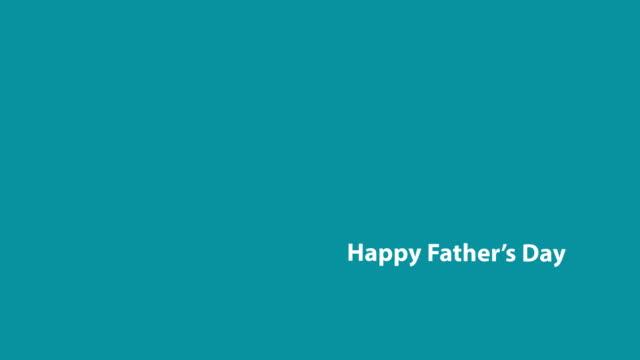 vídeos y material grabado en eventos de stock de 4k feliz día del padre animación de texto - father day
