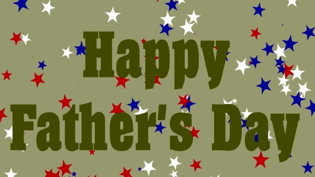 happy father's day with text, khaki background - father's day stock videos & royalty-free footage