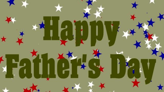 vídeos y material grabado en eventos de stock de feliz día del padre con texto, fondo caqui - father day