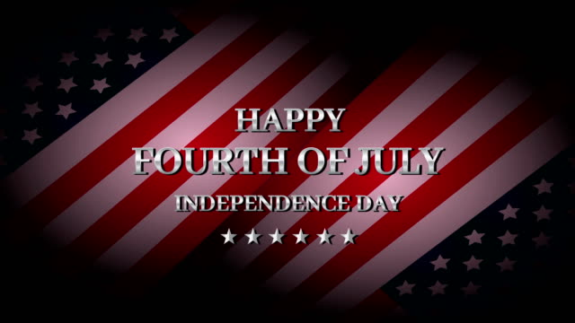 happy fourth of july. independence day. 4k animation - fourth of july stock videos & royalty-free footage