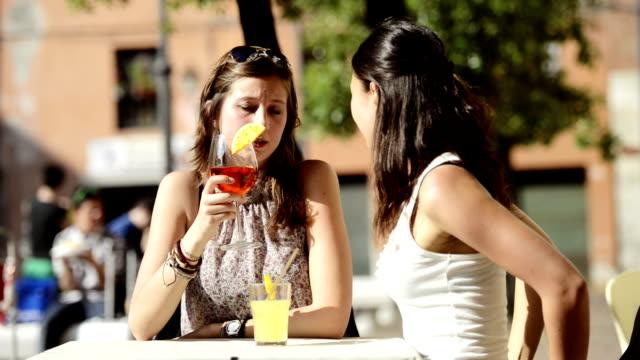 HD: Happy Girl toasting at ba
