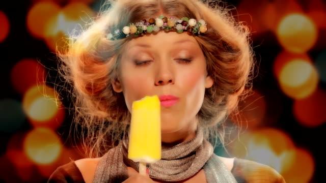 Happy Girl With Ice Cream