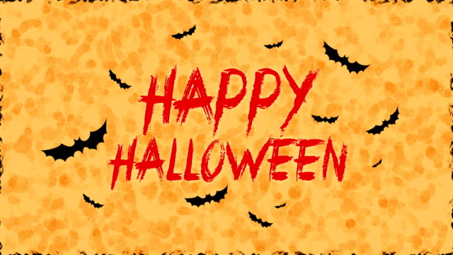 happy halloween and bats - halloween wallpaper stock videos and b-roll footage