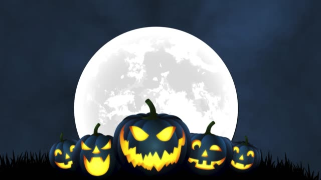 4k happy halloween background - midnight stock videos & royalty-free footage